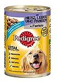 Pedigree Adult Hundefutter Herz, Leber und Pansen, 12 Dosen (12 x 400 g)