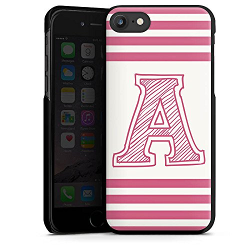 Apple iPhone X Silikon Hülle Case Schutzhülle College Buchstabe Namen Hard Case schwarz