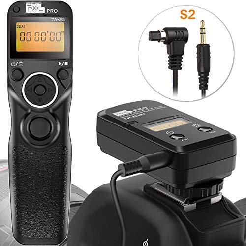 Fernauslöser für Sony, Pixel TW-283 LCD Timer Shutter Kabellose Fernauslöser für Sony Micro Single Digitalkamera A9 A99II A73 A7 A7 II A7R A7R II A7RIII A7S A77II A58 A68 HX300 A6500 A6300