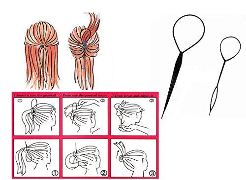 Outils 2 pièces coiffure queue de cheval , tresse Topsy DIY