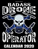 Badass Drone Operator Calendar 2020: Cool Drone Skull Pilot Calendar - Appointment Planner And Organizer Journal Notebook - Weekly - Monthly - Yearly