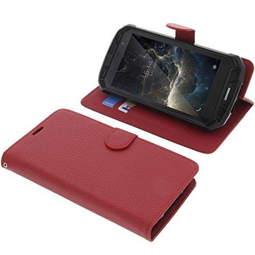 foto-kontor Tasche für Doogee S60 Book Style rot Schutz Hülle Buch