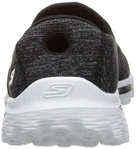 Skechers Gowalk 2 Supersock, Baskets mode femme Noir Blanc