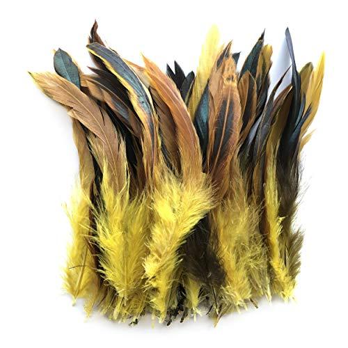 ERGEOB Hahn Feder - Ideen für die Kostüme, Hüte, Home dekor Circa 100 stück 12-18cm gelb