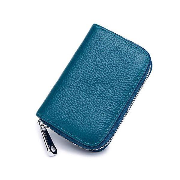 Meowoo Porta Carte di Credito Donna Uomo, RFID Porta Carte Credito Portafoglio Pelle Cerniera 12 Card slot e 2… 2 spesavip