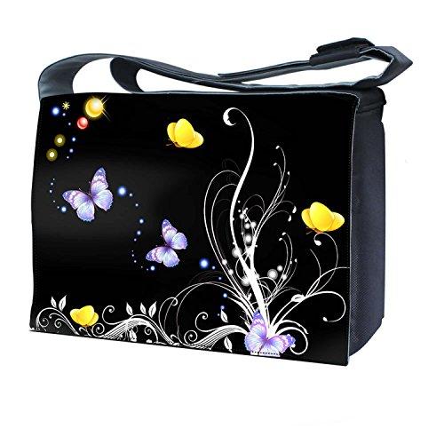 LUXBURG® 17 Zoll Messenger Bag Umhängetasche Laptoptasche Notebooktasche mit Tragegurt Tasche für Laptop / Notebook Computer