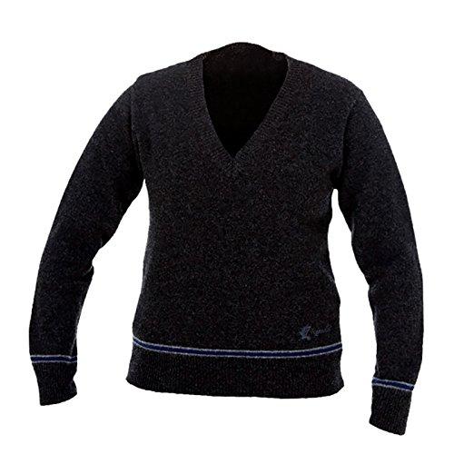 HARRY POTTER Ravenclaw Sweater Hogwarts College Pullover vom Filmausstatter made in Schottland Lammwolle, Schwarz, M College-pullover Sweatshirt