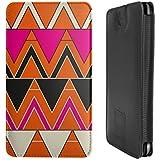 Design Smartphone Tasche / Pouch für Samsung Galaxy S5 mini - ''Orange Triangles'' von caseable