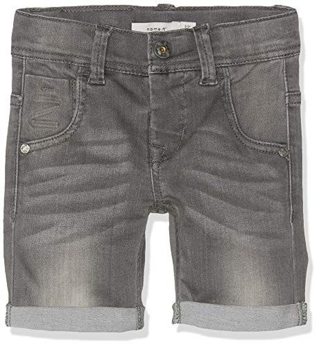Name IT NOS Jungen NKMTHEO DNMCLAS 5155 Long NOOS Shorts, Grau (Medium Grey Denim), (Herstellergröße: 134)