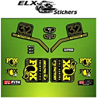 Pegatinas HORQUILLA FORK FACTORY FOX 32 2016 ELX13 STICKERS AUFKLEBER AUTOCOLLANT ADESIVI BICICLETA CYCLE MTB BIKE (AMARILLO/ YELLOW)
