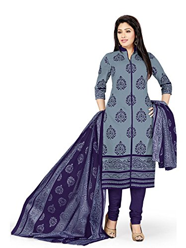Low Price Cotton Grey and Purple Violet Patiala Suit dress for women daily wear in free size (Pshopee presents New Collection latest gowns for women party wear salwar suit for women Patiyala suits for