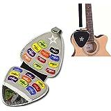 Bolso de las púas de la guitarra con las selecciones 22pcs, la tela negra y el primario de Brown Empiedran la caja de cuero de imitación