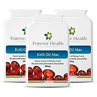 KRILL OIL MAX - Omega 3 Organico Marine Capsule di Olio di Pesce - Sano Articolazioni Cuore e Cervello ! Studi di Scienziati Dimostrano Che Gli Oli Di Pesce Omega3 Possono Aiutare Con Funzione Di Memoria e Ridurre il Rischio di Demenza e Malattia di Alzheimer ! gratuito dieta e sana alimentazione di ogni ordine - 180 x Pillole Super Forti Omega-3