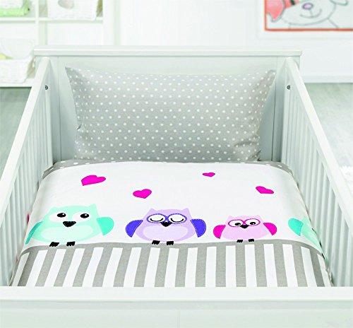 Preisvergleich Produktbild Tolle moderne Baby Kinder Baumwolle Bettwäsche mit Reißverschluss 100x135 40x60 , Design - Motiv:Design 2