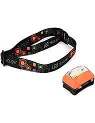 XCSOURCE Super Brillant COB LEDs Lampe Frontale Sports de plein air Phare Casque Bandeau Réglable (Orange) LD749
