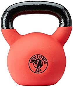 Gorilla Sports Kettlebell Red Rubber, 24kg, 10000491;6