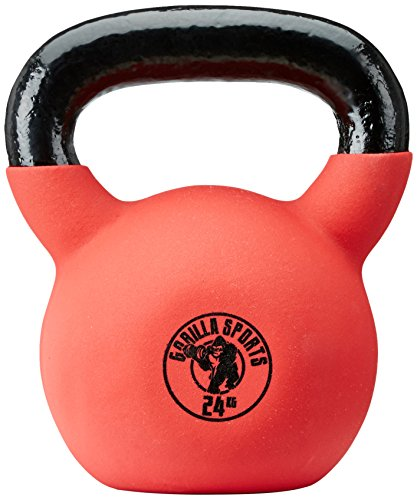Gorilla Sports Kettlebell Red Rubber