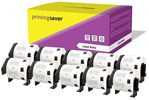 10 Rollen DK11209 DK-11209 29mm x 62mm Adress-Etiketten kompatibel für Brother P-Touch QL-500 QL-570 QL-700 QL-800 QL-810W QL-820NWB QL-1050 QL-1060N QL-1100 QL-1110NWB (800 Etiketten pro Rolle) - Ql P-touch 500 Brother