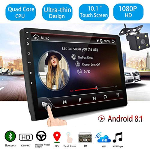 GOFORJUMP 10 Pulgadas Android 8.1 Universal Car Radio
