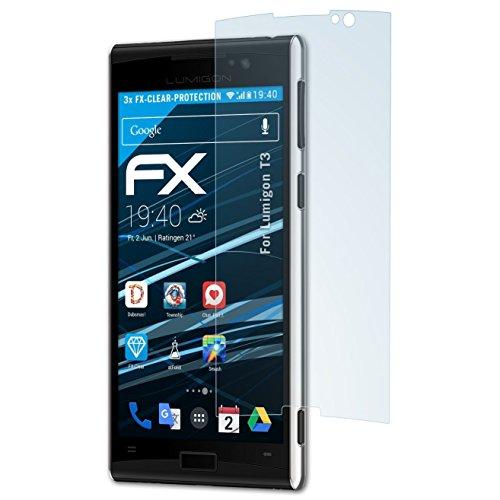 atFolix Schutzfolie kompatibel mit Lumigon T3 Folie, ultraklare FX Bildschirmschutzfolie (3X)