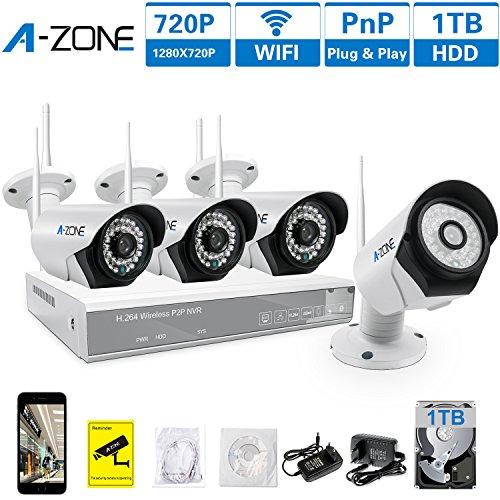 A-ZONE 4 Kanal Funk Überwachungskamera Set