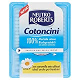 Neutro Roberts Codoncini Biodegradabili con Astina in Cartoncino, Camomilla, Ideale Anche per Bambini - 260 Bastoncini
