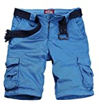 Match Cargo Shorts Sergé pour Homme #S3612(3612 Bleu indigo(Indigo blue),29(FR 38))