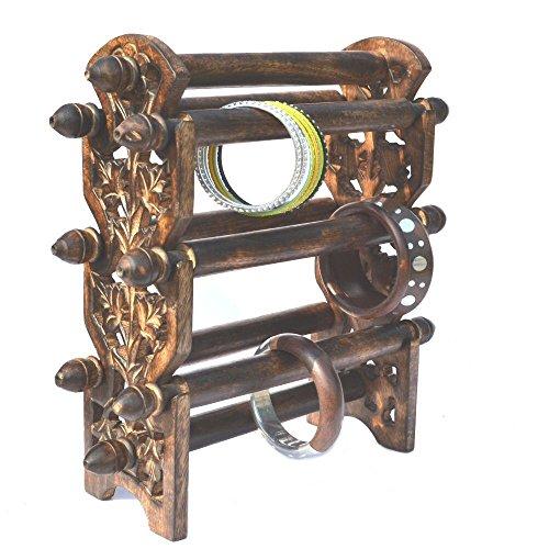 raun-harman-antique-finish-bangles-en-bois-bracelets-stand