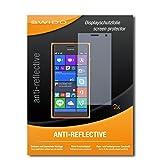 SWIDO Schutzfolie für Nokia Lumia 730 Dual SIM [2 Stück] Anti-Reflex MATT Entspiegelnd, Hoher Härtegrad, Schutz vor Kratzer/Bildschirmschutz, Bildschirmschutzfolie, Panzerglas-Folie