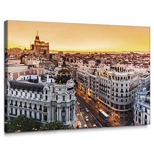 Cuadro Gran Vía Madrid Lienzo 100 x 70
