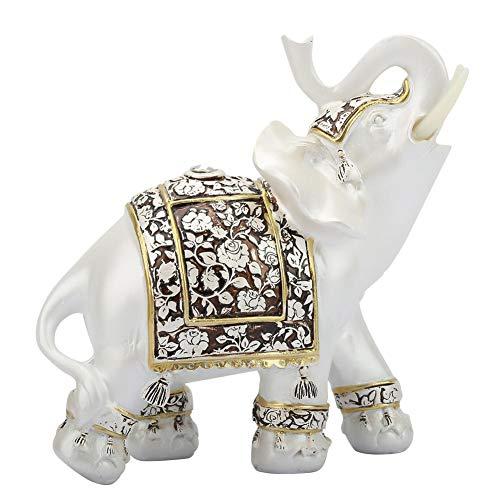 Qiterr Goldene Blume Porzellan Elefanten Dekoration Dekoration Geschenk