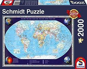 Schmidt Spiele Unsere Welt Puzzle - Rompecabezas (Puzzle rompecabezas, Mapas, Adultos, Hombre/Mujer, 12 año(s), 968 mm)
