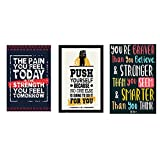 #6: Vprint Combo Pack Of 3 Motivational Quote Wall Poster Quotes & Motivation ,(12X18)
