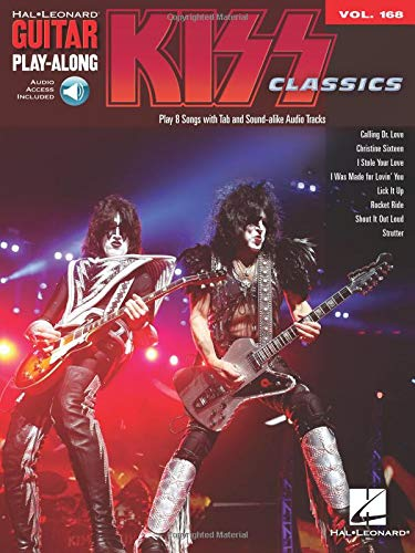 Guitar Play-Along Volume 168: Kiss: Noten, Play-Along für Gitarre (Kiss-gitarre)