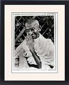 Tableau encadré de Gandhi Avant son arrestation