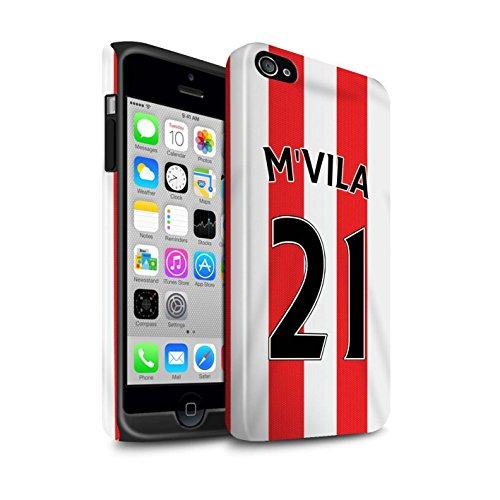 Offiziell Sunderland AFC Hülle / Glanz Harten Stoßfest Case für Apple iPhone 4/4S / Pack 24pcs Muster / SAFC Trikot Home 15/16 Kollektion M'Vila