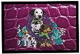 Rosalie bonbon collection Pets 71 - Felpudo (40 x 60 cm, poliéster, parte trasera de PVC, libre de ftalatos, impresión fotográfica), diseño de mascotas