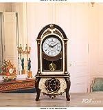 Y-Hui Peening Time-Base Clock Desk Clock Clock Im Wohnzimmer Schlafzimmer alte Pendeluhr Desktop Dekor Schwingen ist 12 Zoll, Gelb (Nicht gemeldet).