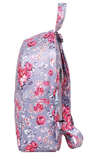 OLETHA Zaino Piccolo Mini Borsellino per Donna | A4 formato | 34x23x11cm | Fenicotteri D212K, Rose Rosa