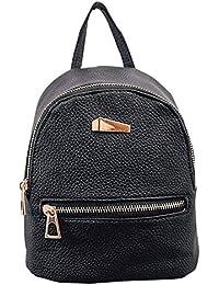 Lady Mini Backpack Fashion Casual Pu Leather Travel Handbag Rucksack Daypack School Shoulder Bag