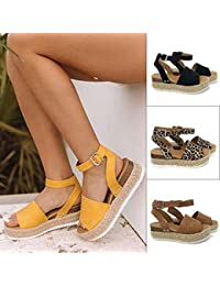 68bcddb6630 Voiks Sandals for Teen Girls Women Fish Mouth Platform Spring Summer Beach  High Heels Wedge Sandals Shoes…