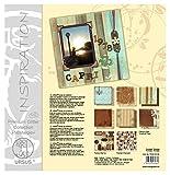 Ursus 70340008 - Premium Glitter Collection Nostalgie, ca. 30,5 x 30,5 cm, 6 Blatt Papier, 1 Die-Cut und 1 Chipboard