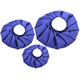 3 PCS 3 Size Reusable Cloth Ice Cool Cooling Bag Cold and Hot Therapy Pack for Sports Injuries Pain Relief Home Office Journey First Aid Health Care Supplies