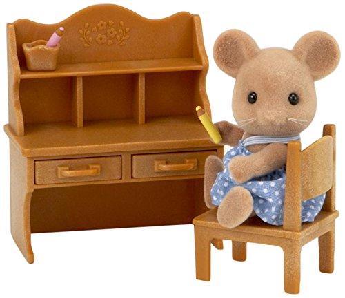 Sylvanian Families 5142 Maus Schwester Spielzeug mit Schreibtisch-Set, Mehrfarbig -