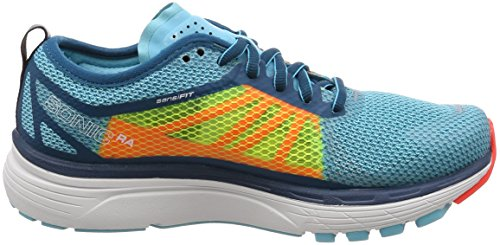 Salomon Sonic Ra Women's Chaussure de Course À Pied - SS18 Blue Curacao / Safety Yellow / Fiery Coral