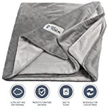"PetFusion Premium X-Large Dog Blanket (60x48""). Reversible Gray Micro Plush. [100% soft polyester]"