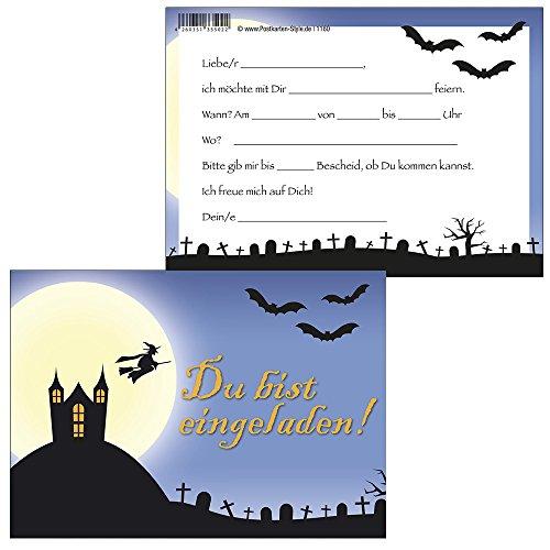 Einladungskarten Gruselparty im Geisterschloß