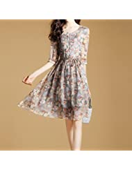 Robes Robes Summer Women'S Fashion Mince Chemise Avec De La Soie