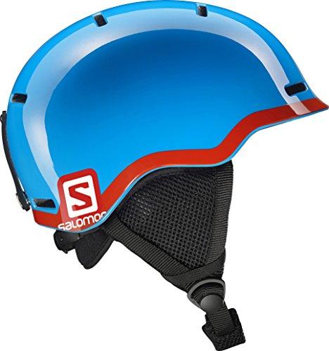 Salomon casco da sci e snowboard per bambino versatile, involucro in-mold + interno in mousse eps, taglia m, circonferenza 53-56 cm, grom, blu/rosso, l37773600