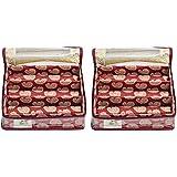 HomeStrap 3 Rod Brocade Bangle Box - Maroon - Pack of 2